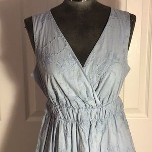 Karen Kane Cotton Dress pale blue Sz M